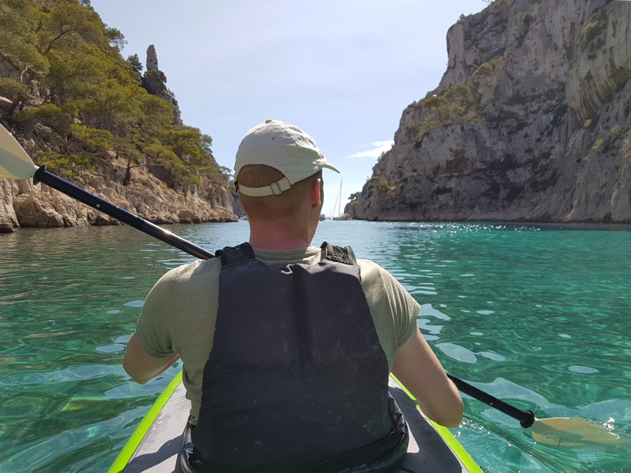 calanques kayak trip