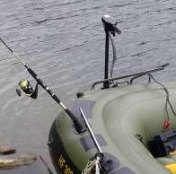 inflatable fishing rod holder