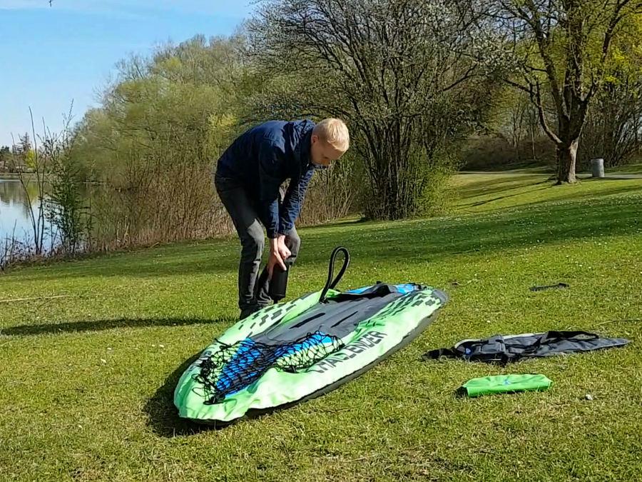 intex challenger kayak how to setup