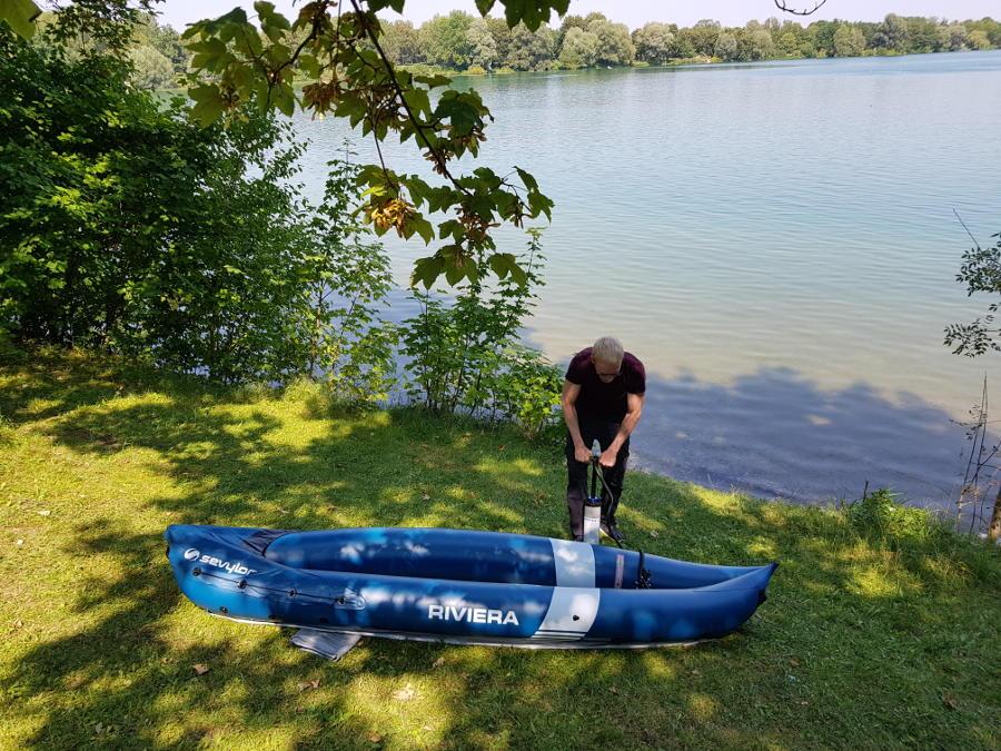 inflatable kayak riviera setup