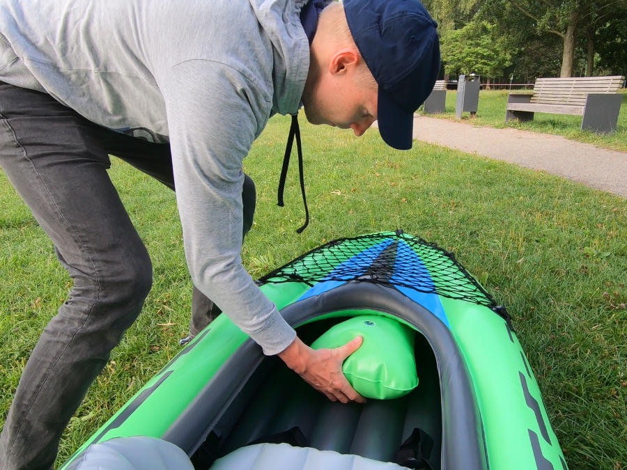 inflatable kayak legroom intex challenger