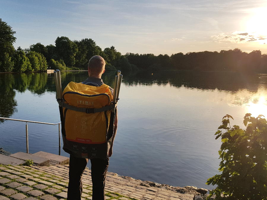 itiwit backpack for inflatable kayak