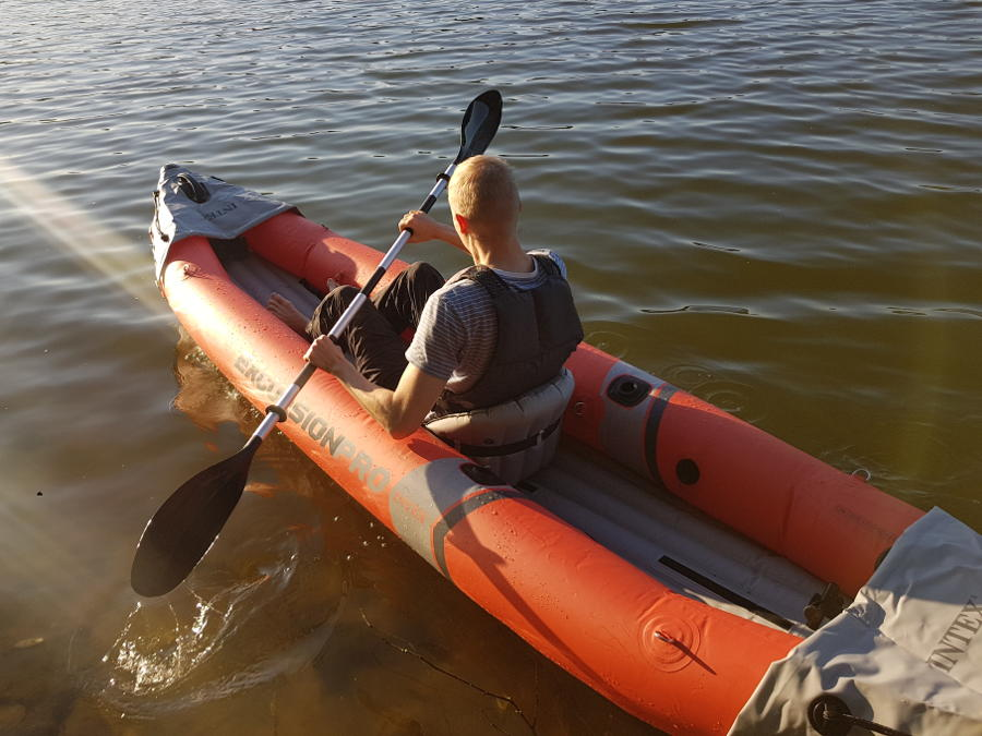 intex excursion pro solo paddling