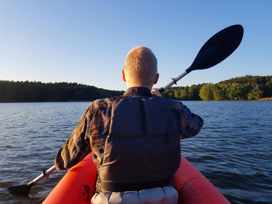 paddling on water intex excursion pro
