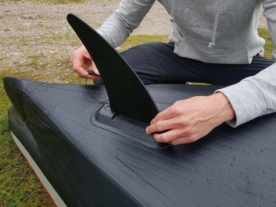 drop-stitch kayak skeg