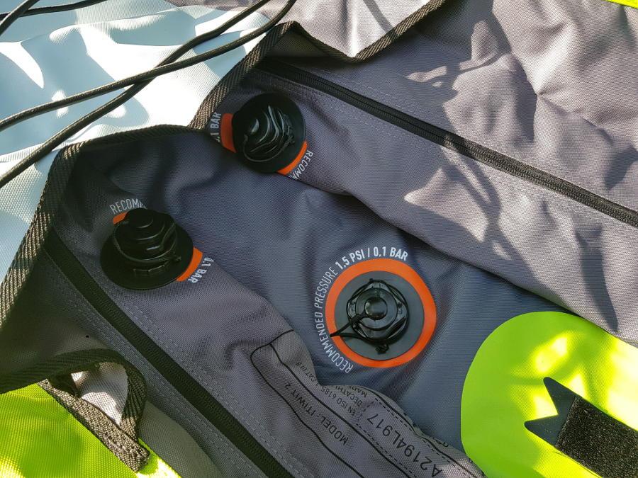itiwit touring kayak inflation