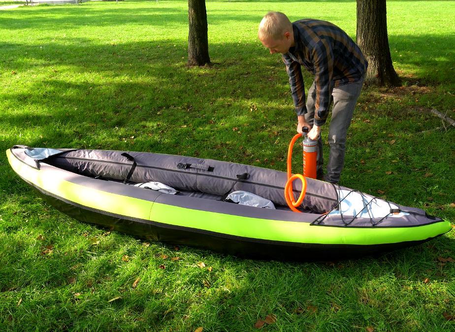 itiwit touring kayak pumping