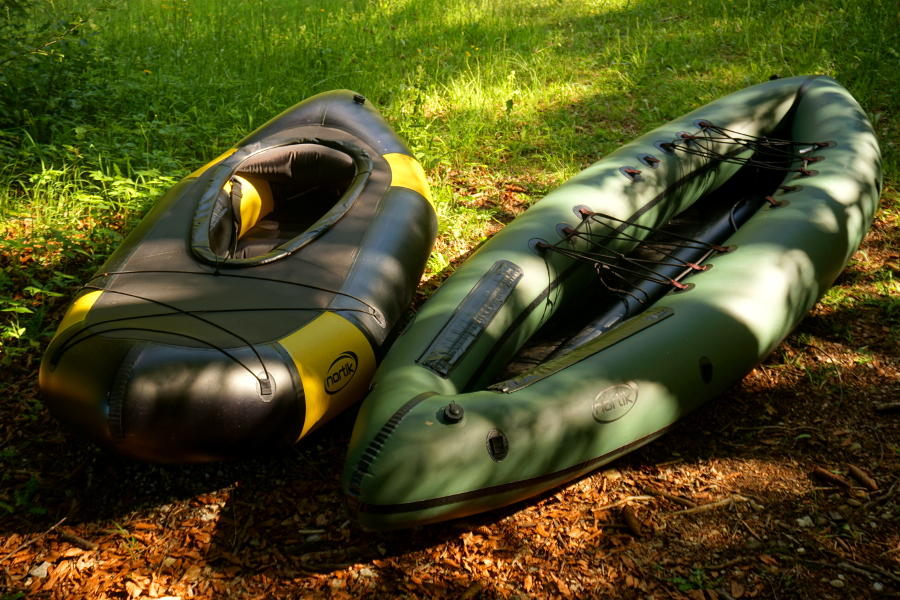 1 person vs 2 persons packraft
