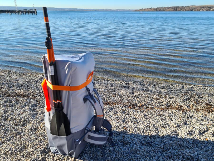 itiwit x500 backpack paddle
